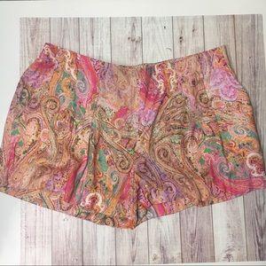 Zara printed silky shorts sz medium